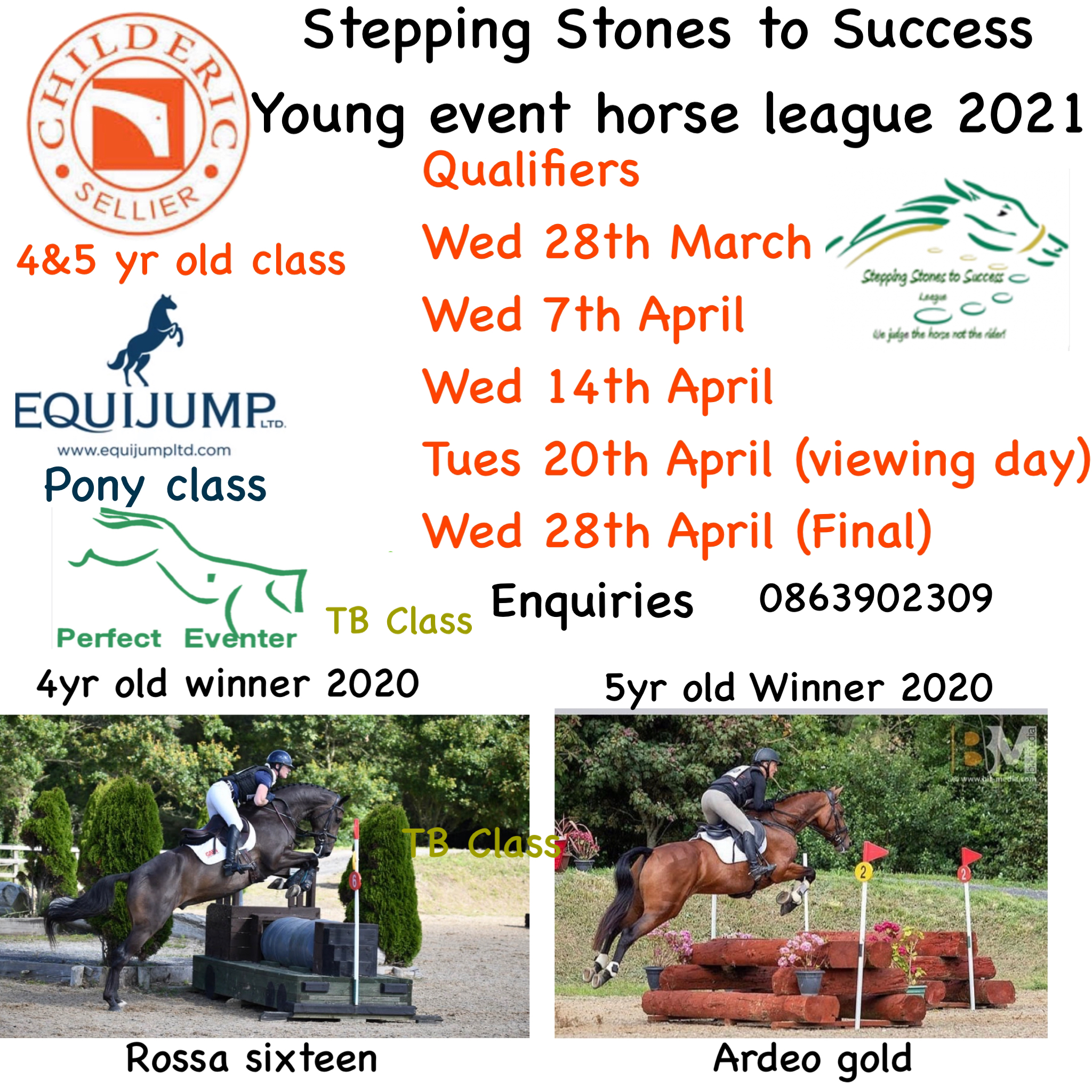 STEPPING STONES YOUNG EVENT HORSE LEAGUE 2021 – WEEK 1 WED 31ST MARCH