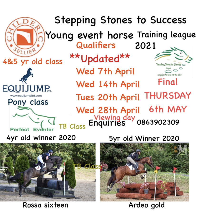 STEPPING STONES YOUNG EVENT HORSE TRAINING  LEAGUE 2021 – VIEWING DAY –  WED APRIL 28TH 2021