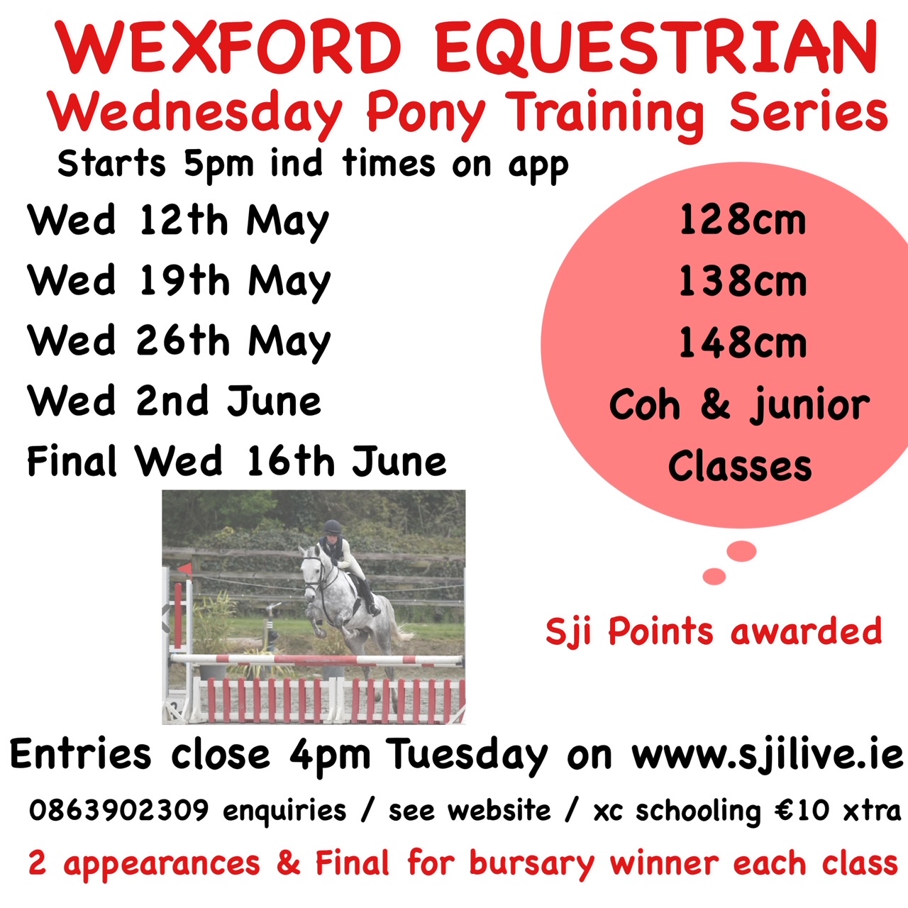 WEDNESDAY PONY SHOWJUMPING SERIES – WEEK 1