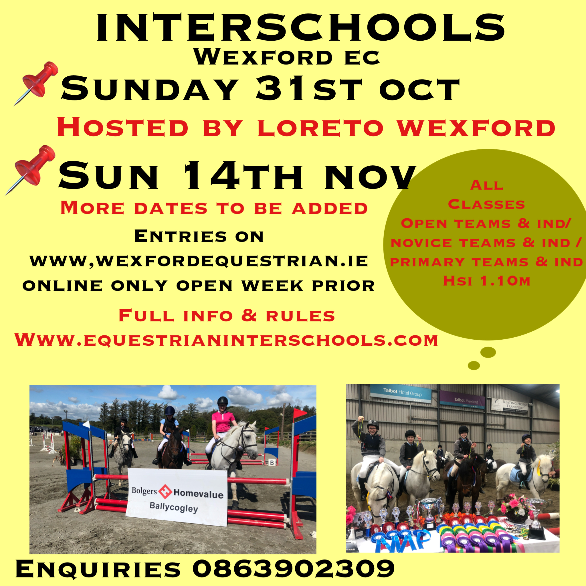INTERSCHOOLS LEAGUE – WEXFORD EC – HOSTED BY LORETO WEXFORD